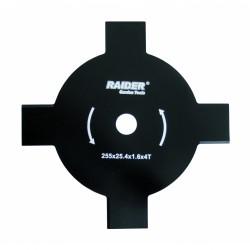 Нож за трева Raider 4 лъча Ø 255 x 25.4 mm